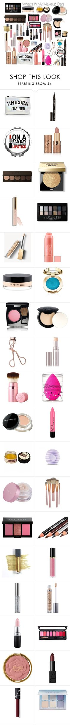 """What's In My Makeup Bag"" by lastgeneration ❤ liked on Polyvore featuring beauty, Forever 21, Smith & Cult, tarte, Bobbi Brown Cosmetics, Beautycounter, Maybelline, Burberry, MAC Cosmetics and Chanel"