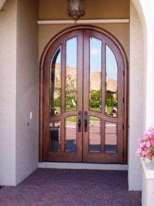 Arched Window Front Door