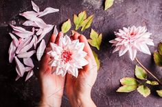 DIY making realistic flowers. Nature Photos