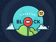 Overcome Creative Block designed by Justas Galaburda. Connect with them on Dribbble; the global community for designers and creative professionals. Icon Design, Web Design, Logo Design, Graphic Design, Outline Illustration, Digital Illustration, City Illustration, Blog Writing, Creative Thinking