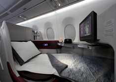 Sleeping on clouds: Business class on the A350 offers a comfortable and private space to relax