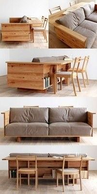 really want this sofa - DIY Möbel Smart Furniture, Space Saving Furniture, Pallet Furniture, Home Furniture, Furniture Design, Repurposed Furniture, Multipurpose Furniture, Industrial Furniture, Vintage Industrial