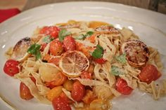 The Chew | Recipe  | Fabio Viviani's Fettucini With Roasted Lemon, Tomato And Parmesan This fresh and tasty dish is just the thing for dinner tonight.
