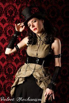 Steampunk Harness BLACK Velvet Faux Suede by velvetmechanism, $55.00