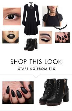 """""""Wednesday Addams Halloween costume"""" by hood-payne ❤ liked on Polyvore"""