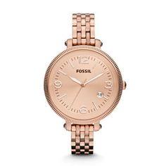 Fossil Damen-Armbanduhr Analog Edelstahl ES3130:Amazon.de:Uhren