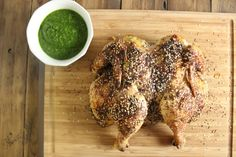 Middle Eastern Roast Chicken with Green Harissa