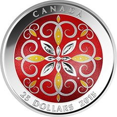 CHRISTMAS ORNAMENT Glass Silver Coin 25$ Canada 2015 Silver Christmas, Christmas Ornaments, Canadian Coins, 3d Cnc, Coins Worth Money, Coin Worth, Scroll Pattern, Banner, Art And Technology