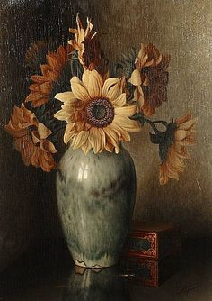 Bernhardus Arps (Dutch; 1898-1962)...Sunflowers in a Vase