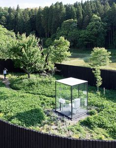 sou fujimoto's public toilet in ichihara is a garden escape the communal bathroom is notably one of the smallest 'public' spaces, while at the same time being confined and private. sou fujimoto took. Sou Fujimoto, Landscape Architecture, Architecture Design, Landscape Design, Outdoor Toilet, Restroom Design, Public Bathrooms, Toilet Design, Glass Boxes