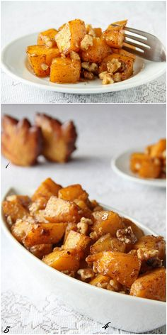 Caramelized Butternut Squash ~Sweet and Savory by Shinee... Don't forget the salt! It really makes it awesome. Also used brown sugar Splenda and pumpkin pie spice. Sooo good!