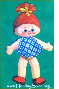 Doll (soft toy with his hands) www.HolidaySoon.org-free pattern Russian site