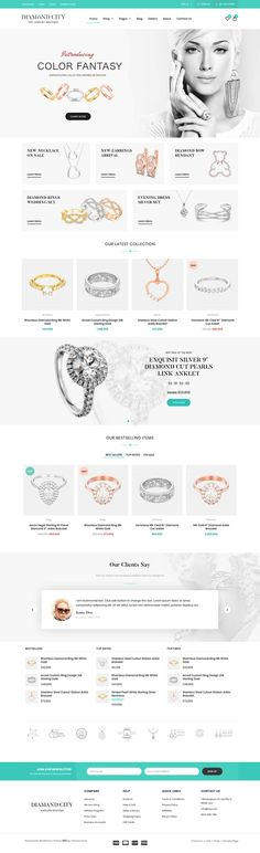 ジュエリー/アクセサリーショップテーマ『DiCi』 | studioDoghands Selling Jewelry, Jewelry Shop, Jewelry Stores, Diamond City, Jewelry Website, Wordpress Theme Design, Website Themes, Beautiful Watches, Web Design