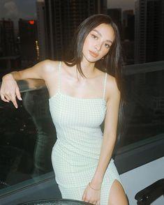 Kylie Verzosa, Blackpink Fashion, Asian Style, Gingham, Beautiful Women, Bodycon Dress, Celebrities, Lady, Beauty