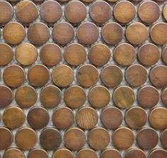 Copper Mosaic Tiles | Penny Round Pattern | Essendon | Sunbury | Melbourne