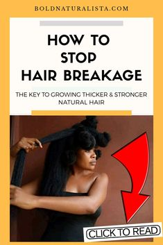 Grow thicker, stronger hair with these amazing tips for natural hair 4b Natural Hair, How To Grow Natural Hair, Natural Hair Regimen, Grow Long Hair, Natural Hair Styles, Long Hair Styles, Stop Hair Breakage, Extreme Hair Growth, Hair Loss Remedies