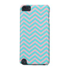 Pink and Aqua Chevron iPod 5 Case iPod Touch (5th Generation) Case