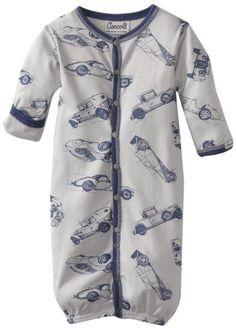 Amazon.com: Coccoli Baby-Boys Newborn Vintage Airplanes Converter Gown, Ivory/Navy/Gray, Newborn: Clothing