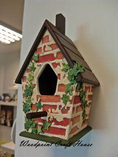 #painting #countrypainting #decopage #handpainting #gift #elyapımı #ahşapboyama… Decorative Bird Houses, Bird Houses Painted, Painted Birdhouses, Bird House Feeder, Bird Feeders, Home Crafts, Diy And Crafts, Christmas Centerpieces, Christmas Decorations