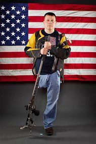 First active-duty, combat-wounded soldier nominated for the U.S. Paralympic Team    http://www.military.com/daily-news/2012/06/11/gi-who-lost-leg-blazes-trail-as-competitive-marksman.html?comp=7000023317843=2