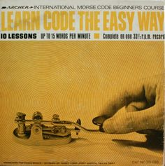 1962 Learn Morse Code the Easy Way album cover.