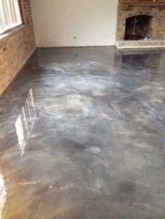 Protect Your Floors With A Concrete Sealant! Although concrete may seem pretty tough, it act Home Design, Floor Design, Epoxy Floor Basement, Metallic Epoxy Floor, Painting Concrete, Pole Barn Homes, Home Upgrades, Diy Flooring, Concrete Floors