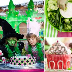 Wicked Inspired Birthday Party For Twin Girls Photo 16