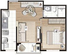 Studio Apartment Floor Plans, Tiny Apartments, Houseplants, Feng Shui, Tiny House, Mini, Loft, Construction, Flooring