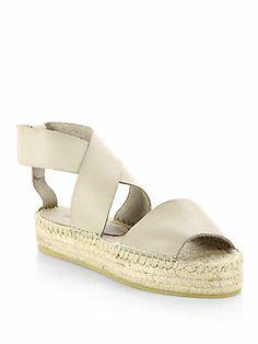 Vince Elise Leather Espadrille Sandals