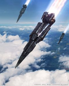 Amazing Concept Design From The Entertainment Industry By Eddie Del Rio Spaceship Art, Spaceship Design, Futuristic Art, Futuristic Technology, Technology Gadgets, Concept Ships, Concept Art, The Last Starfighter, Starship Concept
