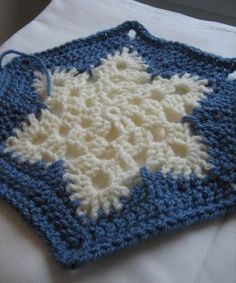 Easy Snowflake:follow link to pattern for the snowflake afghan... http://www.artoftangle.com/snowflake.htm