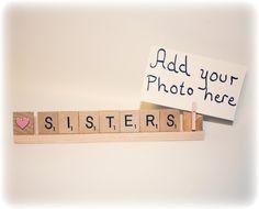 #Sisters #SistersPhoto #SistersGift #BigSis #LittleSis  #etsy #handmade #etsyhandmade #shop #buy #christmas #ornament  #christmasornament #scrabble #scrabbledecor #nana #nanagift #grammygift  #grammychristmas #papa #papagift #papaornament #mom #momgift  #momornament #dad #dadornament #dadgift #love #sister #sistergift  #grandma #grandmagift #grandpa #grandpagift #birthday #birthdaygift  #mombirthday #dadbirthday #auntgift #christmas2017 #frame #photo  #photoframe