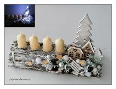 Christmas Time, Christmas Wreaths, Candle Sconces, Wall Lights, Candles, Table Decorations, Home Decor, Appliques, Decoration Home
