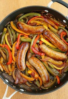Skillet Italian Sausage, Peppers and Onions – Simple, scrumptious home cooking… Italian Sausage Recipes, Sweet Italian Sausage, Sausage Meals, Sausage Crockpot, Sausage Seasoning, Hot Sausage, Chicken Sausage, Chicken Soup, Pork Recipes