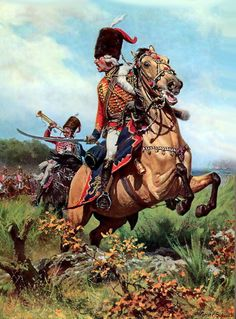 General Zieten leading Prussia's Zieten Hussars during the Seven Years War