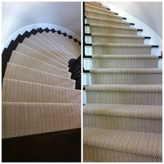 Great install of Tuftex Carpets of California's herringbone style- Only Natural