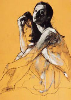 Mark Demsteader - Contemporary Artist - Figurative Painting - Alex Sitting