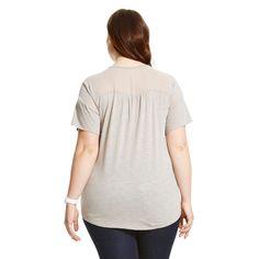 Women's Plus Size Beaded Trim Tee- U-knit