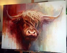 buffalo animal painting by ben jeffery
