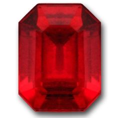 A very intense red color 1.65 Emerald Cut. Top grade Rubellite saturation. No eye visible inclusions face up which is unusual with a Type 3 gemstone.