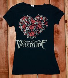 Bullet For My Valentine Graphic Tee Shirt Woman's Size Large #BulletForMyValentine #Music #GraphicTeeShirt