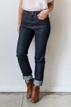 High Waist Denim Jeans with a vintage fit. Pretty much perfect and my favorite pair.