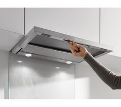 Take home this Miele Canopy Cooker Hood for total convenience when rustling up your delectable dishes. Convenience tailored to you You can easily keep this hood clean because the grease filter Grease, Canopy Cooker Hoods, Kitchen Fan, Kitchen Ideas, Kitchen Designs, Cooker Hood Extractor, Range Cooker, Vent Hood, Filter