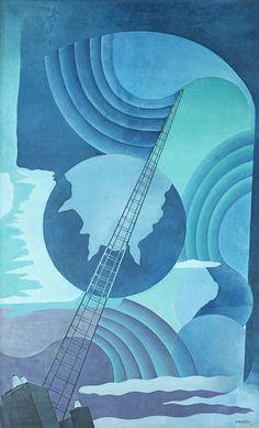Benedetta Cappa Marinetti (1897-1977) - Synthesis of Radio Communications (Sintesi Delle Comunicazioni Radiofoniche), 1933-34