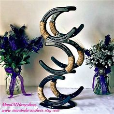 New Horseshoe Wine Rack-Country Wedding Gift by MandMHorseshoes