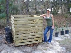 This bin actually cost us $100 total in supplies. We were going to build it from pallets but I wanted something a little niceraesthetically, one I could take with us since we rent, and one that w...
