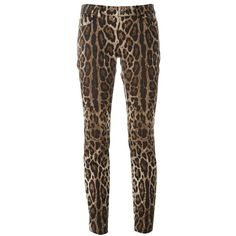 Dolce & Gabbana leopard print trousers (52.820 RUB) ❤ liked on Polyvore featuring pants, brown, brown skinny pants, leopard print pants, skinny trousers, leopard print skinny pants and dolce gabbana trousers