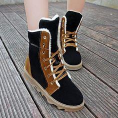 25.92$  Buy here - http://diz5b.justgood.pw/go.php?t=197837411 - Tie Up Flat Heel Short Boots 25.92$