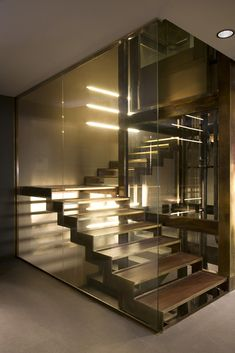 modern interior staircase. Wow