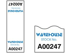 Cable wrap label with serial number, 75mm x 25mm